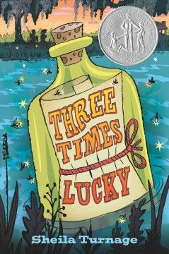 Washed ashore as a baby in tiny Tupelo Landing, North Carolina, Mo LoBeau, now eleven, and her best friend Dale turn detective when the amnesiac Colonel, owner of a café and co-parent of Mo with his cook, Miss Lana, seems implicated in a murder. - See more at: http://ssf.bibliocommons.com/item/show/2138956076_three_times_lucky#sthash.V0ncBfYv.dpuf