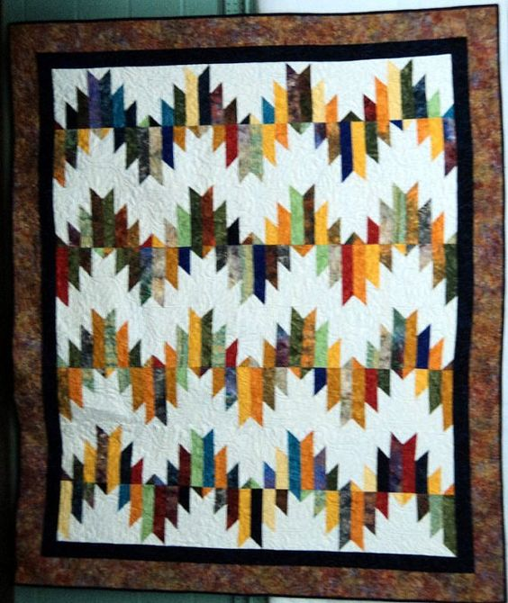 Quilted Throw Batik Delectable Mountains by HollysHutch on Etsy, $350.00