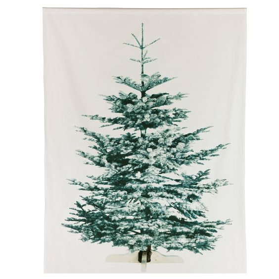 Curtains Ideas christmas curtain fabric : Ikea: LIAMARIA screen printed Christmas tree on fabric, has slot ...