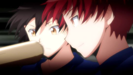 Isogai and Karma dodging the bat, so cool.