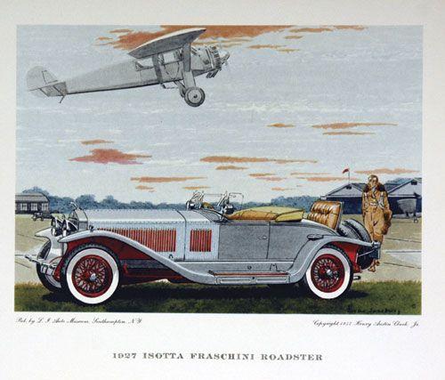 Isotta-Fraschini Roadster by Leslie Saalburg