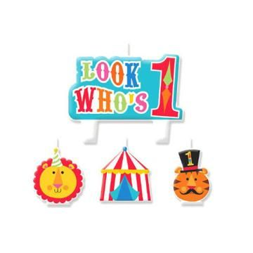 Circus Party! Such cute stuff for a Carnival or Circus theme for a birthday party! http://store.watkinspartystore.com/birthday-generic-circus  First Birthday Circus - Candle Set