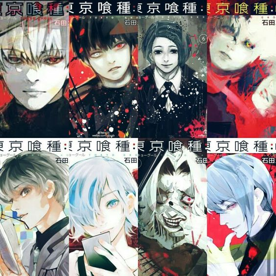 Tokyo Ghoul re: volume covers