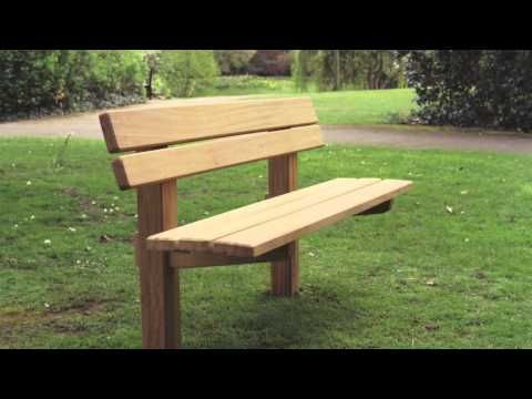 ▶ The Staxton wooden bench - YouTube