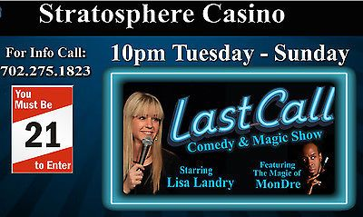 2 TICKETS TO LAST CALL COMEDY & MAGIC SHOW AT THE STRATOSPHERE HOTEL LAS VEGAS https://t.co/RABZKWiTEi https://t.co/kjZAHGuyWl