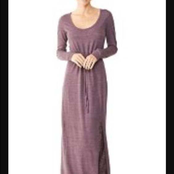 Alternative Apparel Maxi Dress Alternative New Eggplant Long-Sleeve Drawstring Maxi Dress S $82 Features 100% Polyester All items are guaranteed 100% authentic or your money back! Polyester Heathered S Eggplant Product Details Alternative Apparel Dresses Maxi