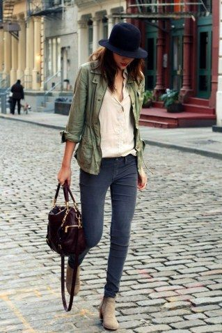 Skinny Jeans mit Boots