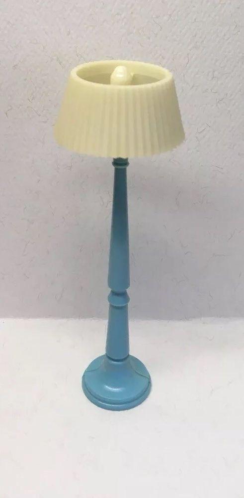 Blue Floor Lamp Renwal Styled Kleeware Vintage Dollhouse Furniture