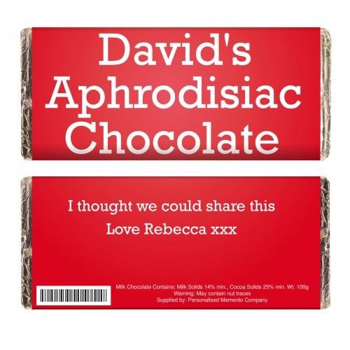 Personalised Aphrodisiac Chocolate Bar | Bar and Gift
