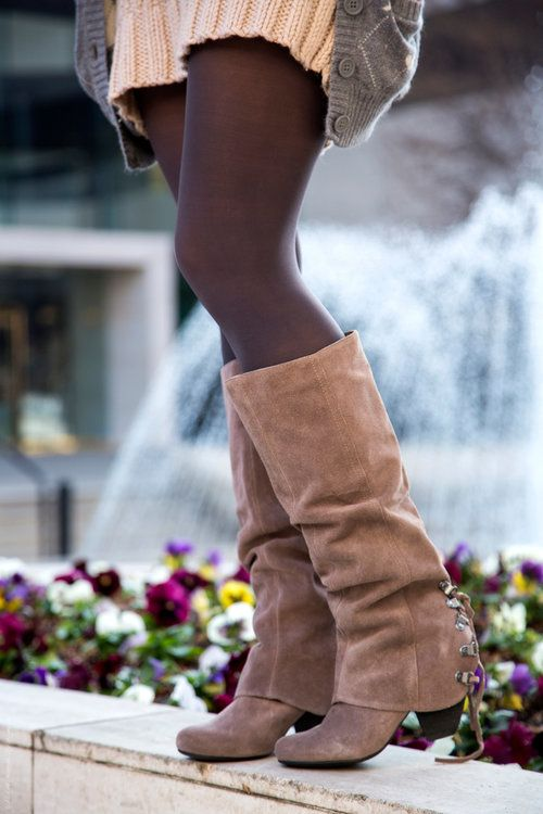 Naughty Monkey Taupe Suede Boots - $54