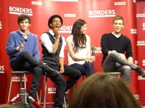 They have a contract. for 3 movies. that means there will be MORE!! Q with the cast of Percy Jackson