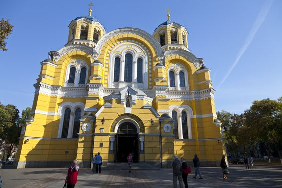 St Volodymyr's Cathedral also known as the Volodymyrsky Cathedral, Vladimirsky Cathedral, or St. Vladimir's Cathedral is the mother cathedral of the Ukrainian Orthodox Church located in the centre of Kiev.
