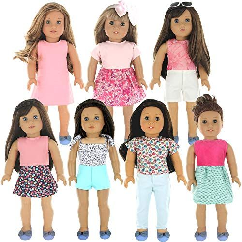 "Fits 18/"" Doll American Girl Doll Clothes Wardrobe Makeover 7 Complete Outfits"