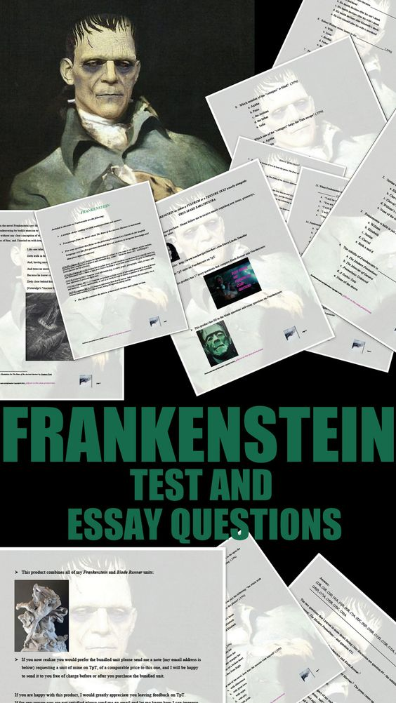frakenstein essays In shelley's frankenstein, reading milton allows the creature to realize that he is, in fact, a monster.