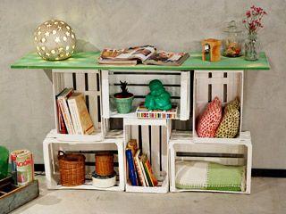 Reciclar cajones de verduleria objetos pinterest - Manualidades con muebles viejos ...