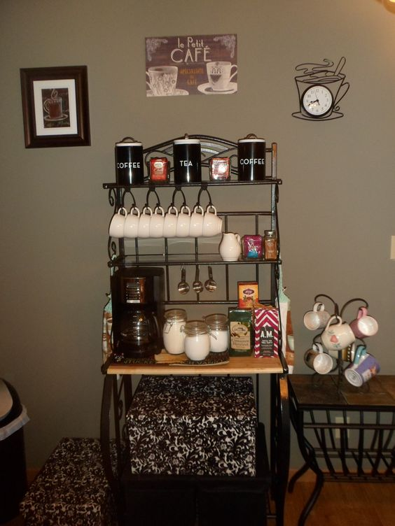 my coffee bar coffee pinterest bakers rack