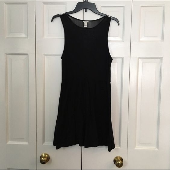 Black Dress Photos don't do this dress justice. Sheer back. Front has plunging sheer neckline. Forever 21 Dresses