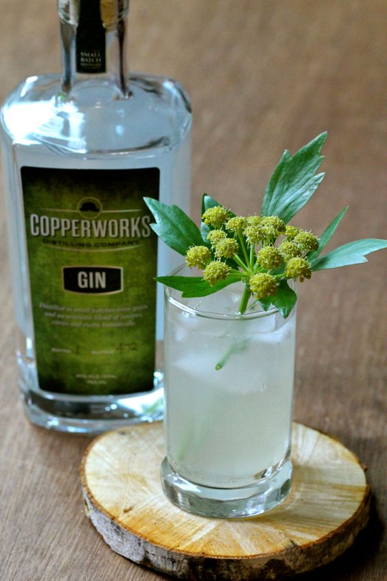 Lovage Lime Lifter - gin, lovage and lime syrup, lime juice, sparkling ...