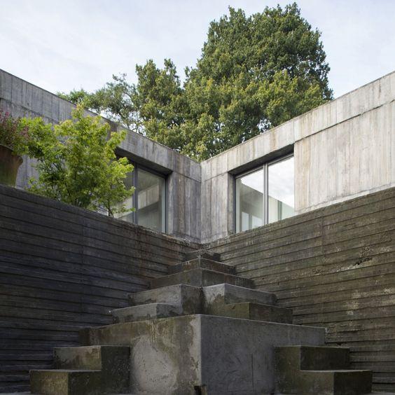 Guna House. Llacolén, Concepción, Biobío, Chile. Archi: Pezo von Ellrichshausen, 2014. Photo: Pezo von Ellrichshausen.: