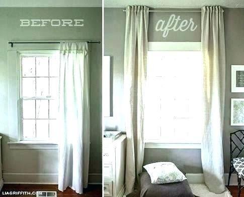 Curtains For High Short Windows Trendyideas Co Window Treatments