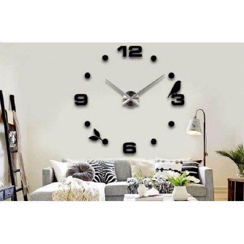 Ilginç Büyük Boy 3d Dekoratif Duvar Saati Modeli Duvar