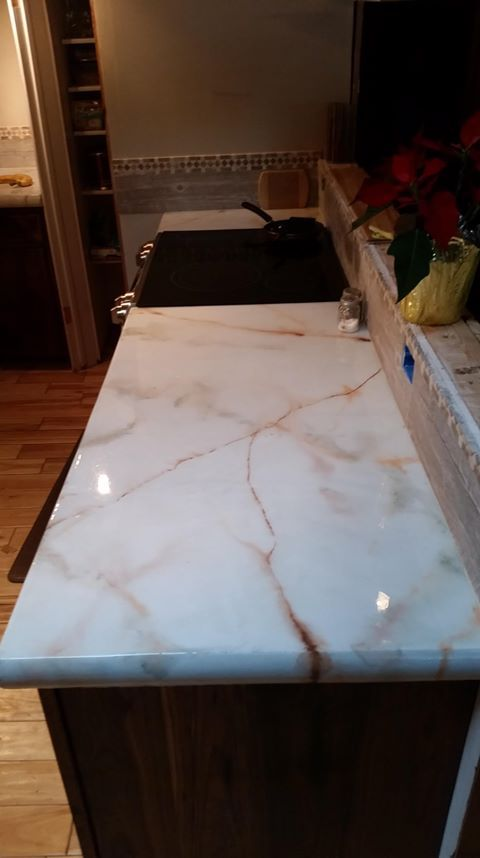 Marble Stained Concrete Countertop Stained Concrete Countertops