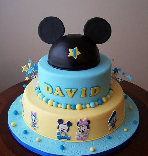 Baby Mickey Cake Cakes and cookies Pinterest Baby ...