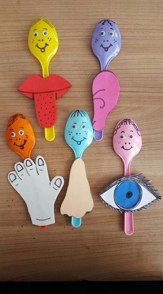 Marionetas Para Aprender Los Sentidos Manualidades Escolares Los Sentidos Para Ninos Manualidades
