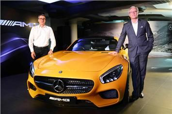The AMG GT S is powered by the 503bhp, 4.0-litre twin-turbo V8 mated to a seven-speed dual-clutch automatic gearbox.