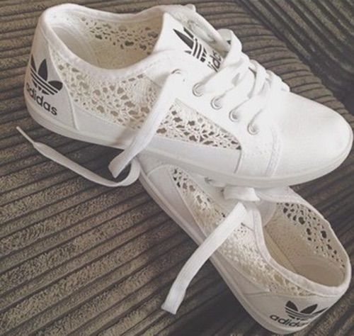 adidas lace sneakers womens