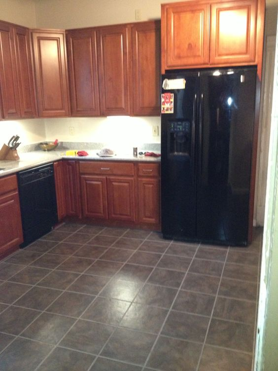 Rental kitchen in Oakland Ca. Cherry raised cabinets, salt ...