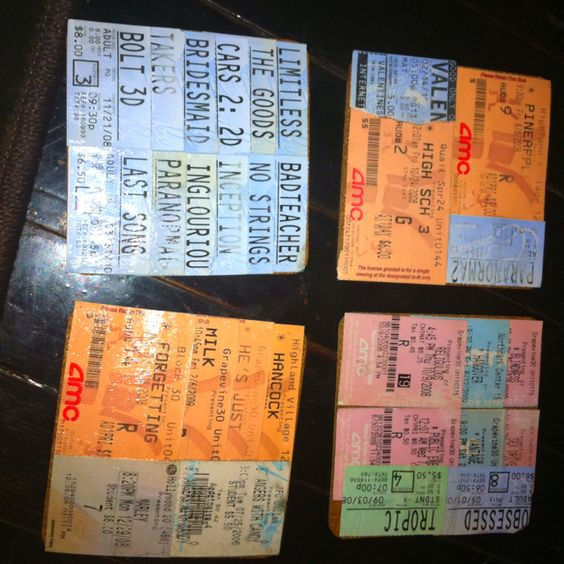 More pics, a movie ticket stub and pages from an old book What - create your own movie ticket