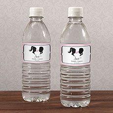 Sweet Silhouettes Water Bottle Label