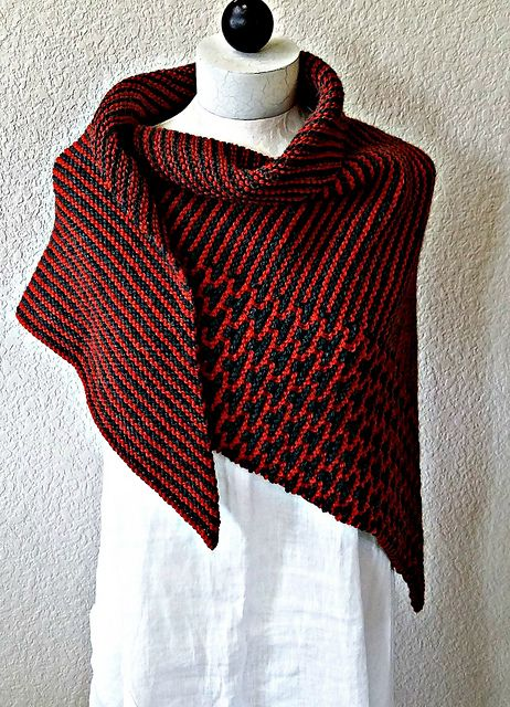 Ravelry: Rusted Roof Shawl pattern by Martha Wissing Stripes and mosaic knitting