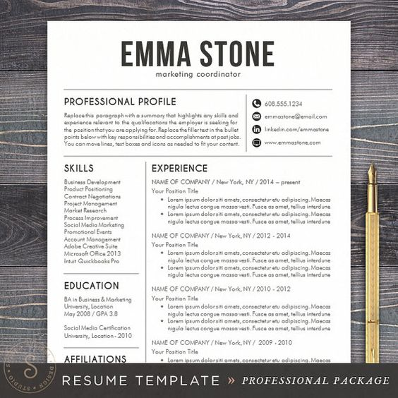 Professional Cv Resume Templates: Pinterest • The World's Catalog Of Ideas