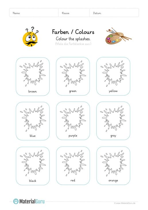 Learning Farben Learning Color Words Worksheets Pdf 2019