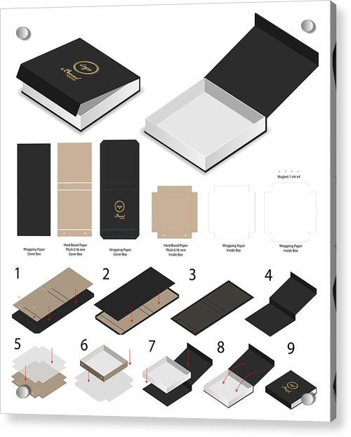 Download Rigid Magnet Box Template 3d Mockup With Dieline By Siiixth Packaging Template Design Packaging Template Box Packaging Templates