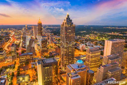 Atlanta Georgia Usa Skyline In 2021 Atlanta Skyline Georgia