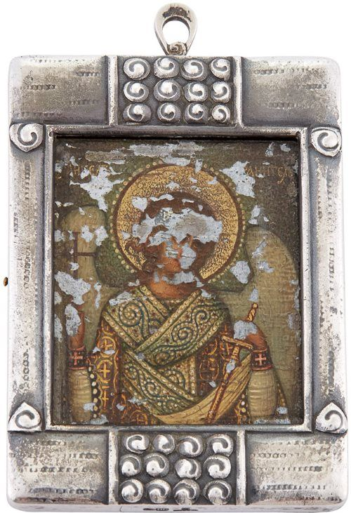 Faberge Silver Icon of the Guardian Angel