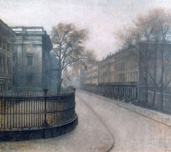 Vilhelm Hammershøi, Montague Street in London, or Side View of the British Museum