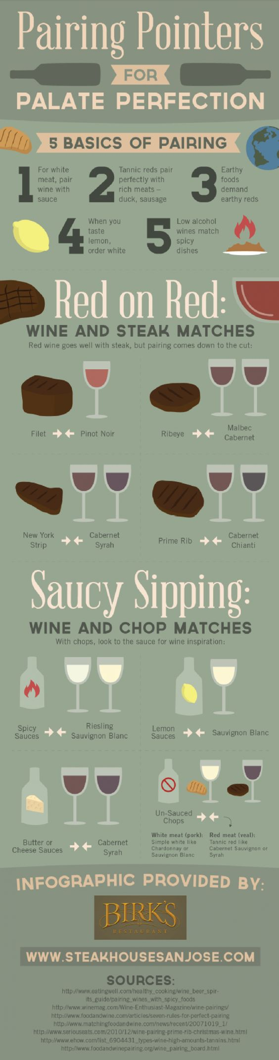 How to pair #wine with #food - Discover more in this #infographic - http://finedininglovers.com/blog/food-drinks/how-to-pair-wine-with-food-infographic/