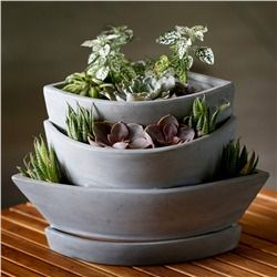 Natural Clay Earthen Planter (491563346), Planters & Terrariums