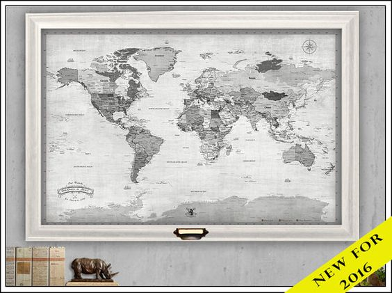 A New world travel map with push pins and perfect for – World Travel Map With Push Pins