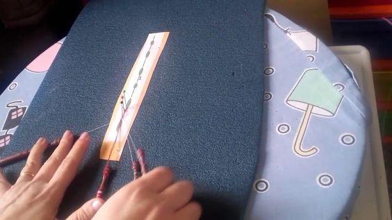 Encaje de bolillos: Como cerrar una hoja de guipur con hilos magicos