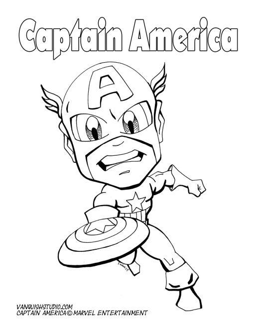 Coloring Pages Vanquish Studio Superhero Coloring Pages Superhero Coloring Captain America Coloring Pages