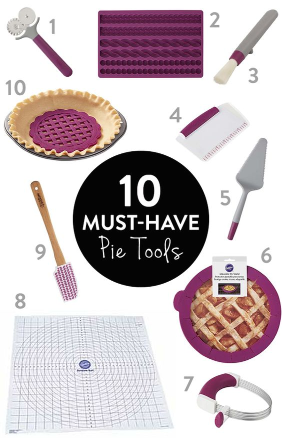 10 Must Have Pie Tools - Whether you're making a pumpkin pie or an apple pie, here are your 10 important tools to making the perfect pie this fall!