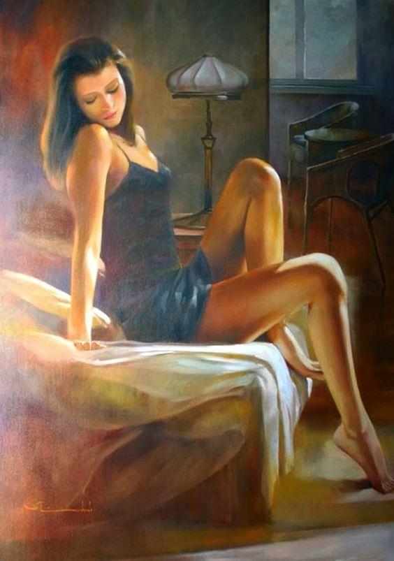 art-femmes-peintures-huile-femmes