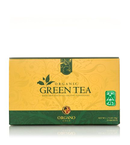 Organic Green Tea The exceptionally soothing and flavorful character of Green Tea combined with the healthy benefits of 100% Organic Ganoderma provides a drink rich with anti-oxidants. Contact me to order:  25 Sachets per box......$33.50