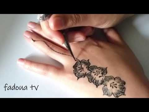 Very Stylish New Mehndi Design For Hand Easy Henna Design For Girls Youtube New Mehndi Designs Mehndi Designs For Hands Simple Henna Tattoo