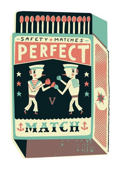 Tom Frost screen print - Perfect Match